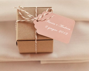 Wedding Favors can be personalized Tags