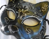 Elegant Black Cat Halloween Costume Mask