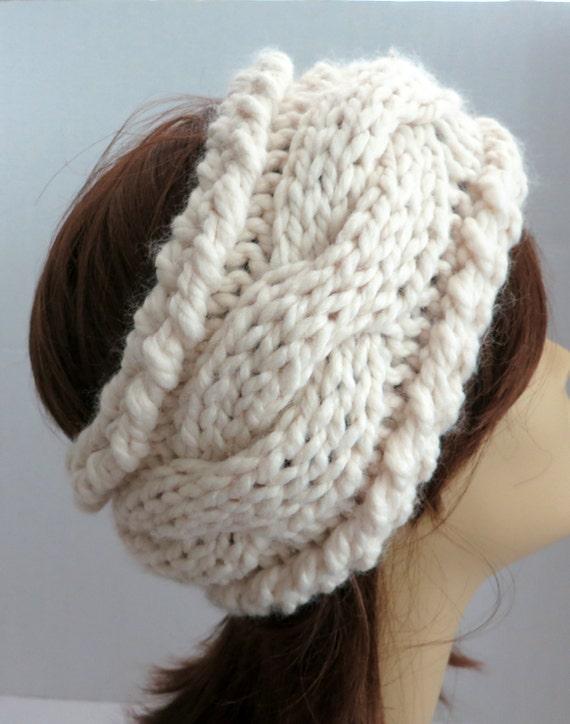 Chunky Knit Ear Warmer Pattern : PDF 138 Pattern Knitting Pattern Chunky Headband Earwarmer PDF Pattern Head B...