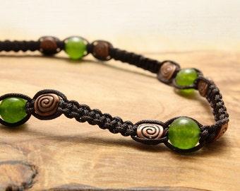 Hand-woven Shambhala-style Macrame Necklace