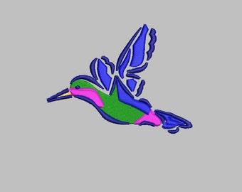 GG 1038 Hummingbird  embroidery design  Design