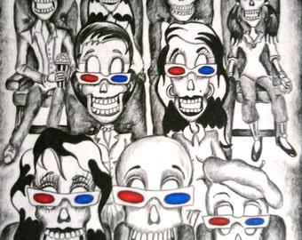 Day of the Dead/ Dia de Los Muertos Print - Life In 3-D by Lisa Cabrera