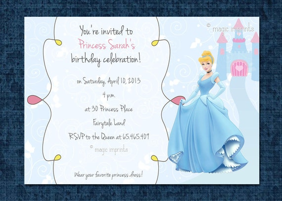 Cinderella Party Invitation