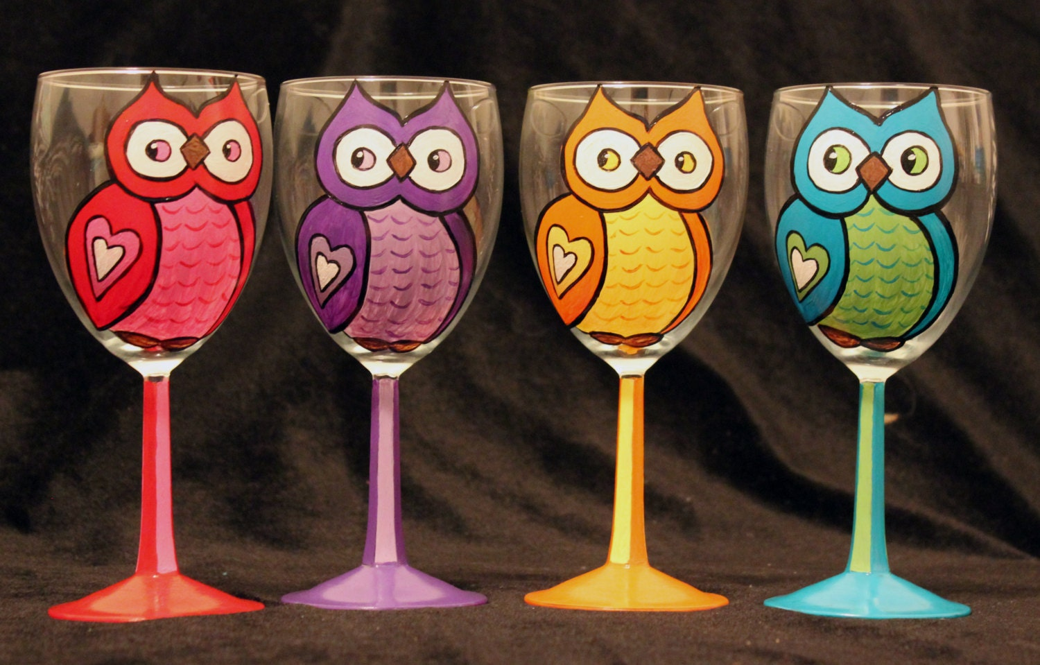 Hand painted wine glasses Images of painted wine glasses