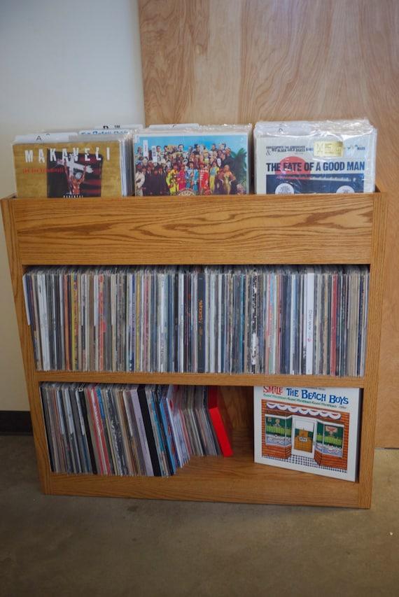 custom built record shelf. Black Bedroom Furniture Sets. Home Design Ideas