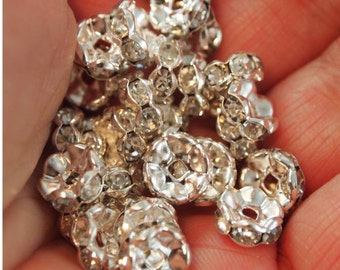 Crystal round spacer beads 8mm-30pieces (MW8Sp)