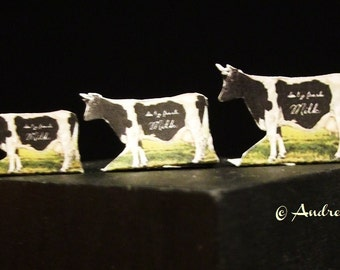 Miniature Cow Display - S/M/L choose one  (english or deutsch)