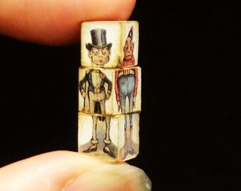 Miniature Funny Cubes, Cubes Amusants - Gentleman with Monocle