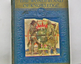 Wonderland of Knowledge BAL to BYZ Old Antique Picture Reference Book Volume II Vintage 1937