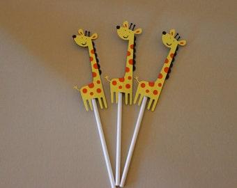 Giraffe Cupcake toppers
