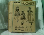 Vintage McCalls 8309 Pattern Embroidery