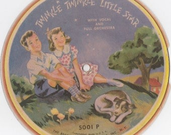 Flexi Record 1940s Twinkle Twinkle Little Star