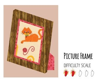 Picture Frame paper pieced quilt pattern in PDF