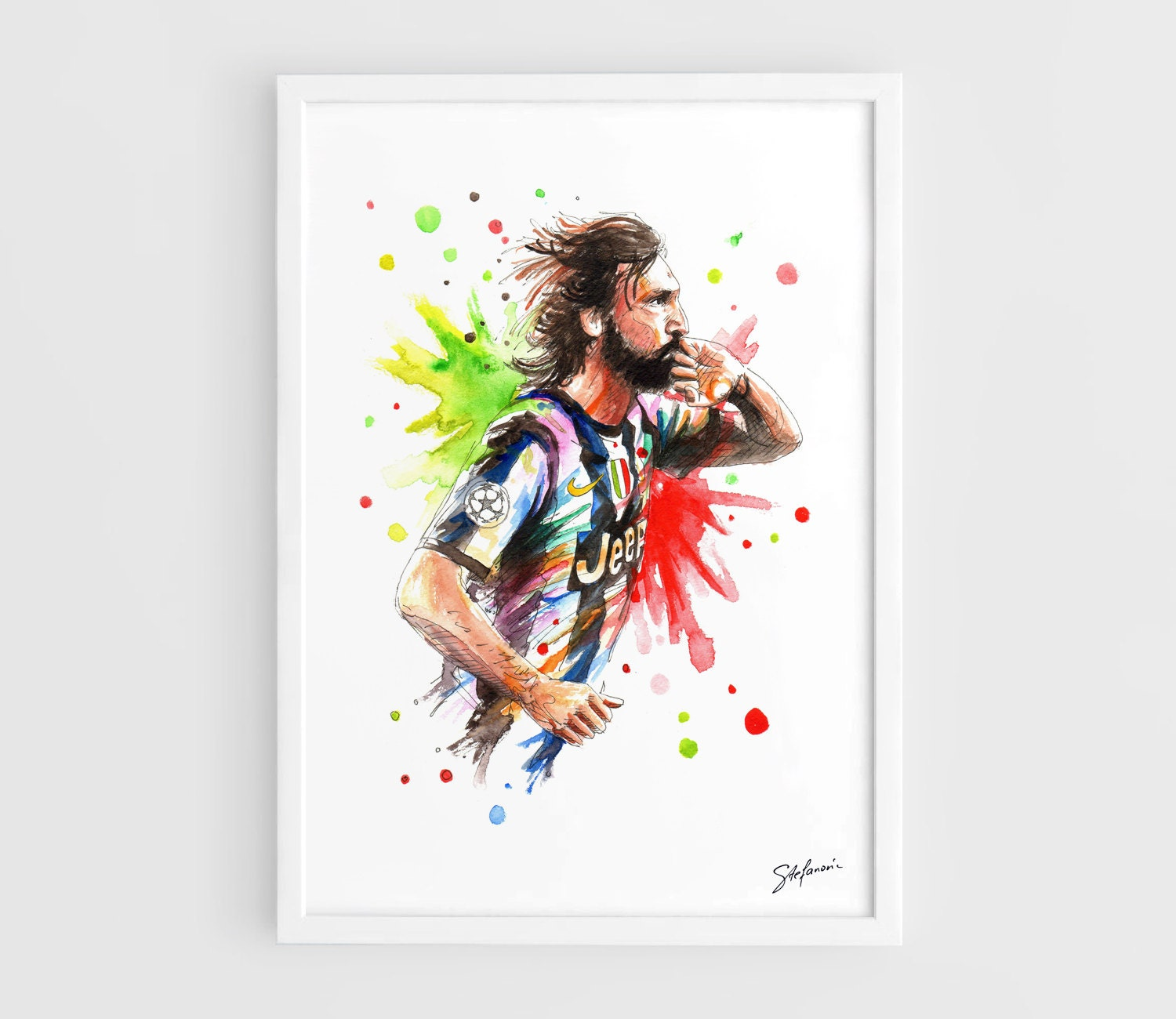 Andrea Pirlo Juventus FC A3 Wall Art Print Poster of the