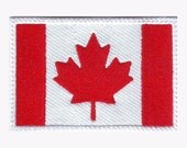 Canada Flag Embroidered Sew on Patch
