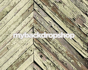 5ft x 7ft Distressed Gray Wood Backdrop - Photography Studio Backdrop -  Item 131
