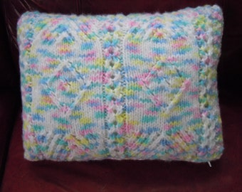 Outdoor Pillow, Indoor Pillow, Kniied Pillow, Homemade Pillow, Home Decor, Decorative Pillow
