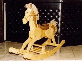 Handmade custom wood rocking horse