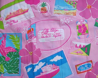 """16"""" x 18"""" Lilly Pulitzer Fabric Junk in the Trunk"""