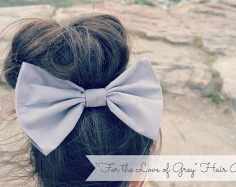 Big Gray Hair Bow