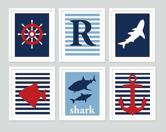 Popular items for nautical art print on Etsy