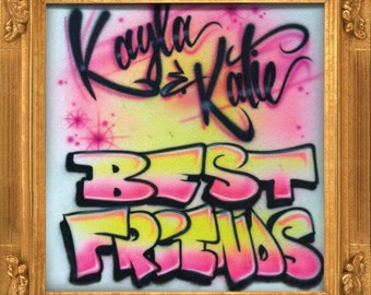 Best Friends airbrush t-shirt