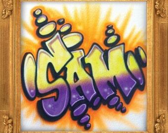 Graffiti Pop airbrush t-shirt