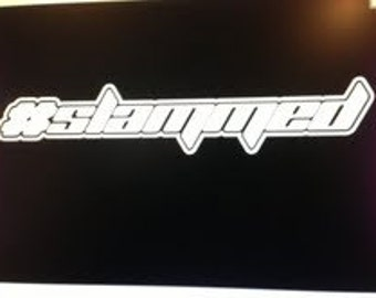 "Hashtag SLAMMED 6"" Vinyl Decal Widow Sticker for Car, Truck, Motorcycle, Laptop, Ipad, Window, Wall, ETC"