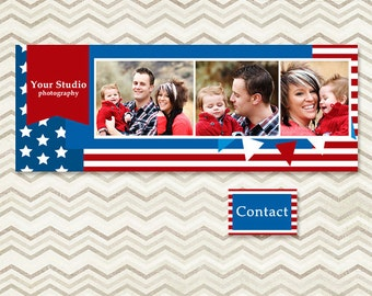 Instant Download - Facebook Timeline Cover for Personal or Business Page - 4th of July - C063