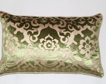 12 x 20  Inches Green  Floral Decor Pillows