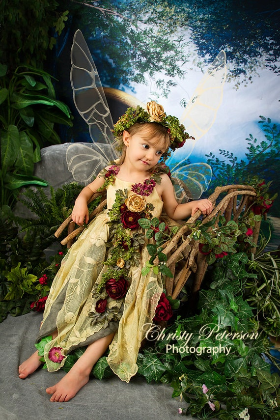 Enchanted Woodland Girls Fairy Costume size 5-6 for