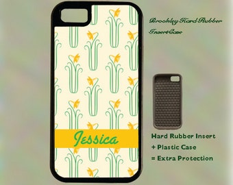 Daffodill  Pattern With Inscription iPhone Case 4, 4s, 5, 5C, 6, 6+ and Samsung Galaxy 3, 4, 5, 6, Edge