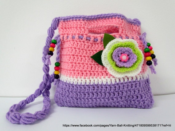Crochet Purse For Child : Crochet Purse. Crochet Clutch. Childrens Crochet Purse.Crochet bag ...