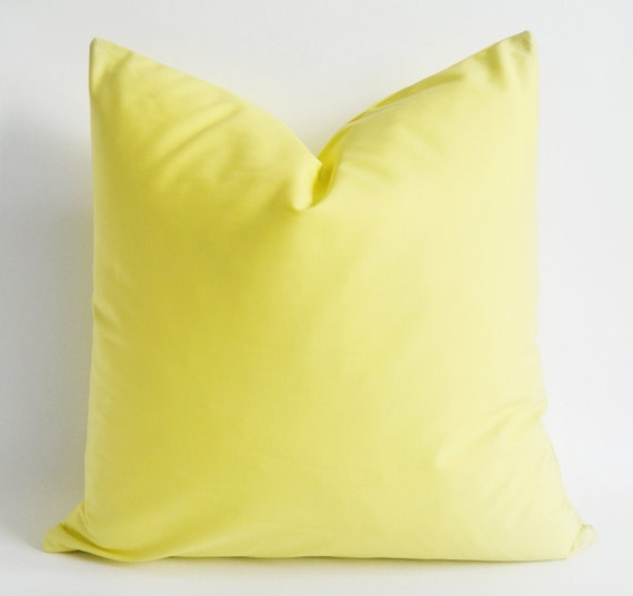 Decorative Pillow Covers for Throw Pillow Light Yellow by babun