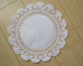 50-10 inch White Paper Lace Doilies-Paper Doily-Wedding Doilies-Paper Lace Doilies-Party Decor Doilies