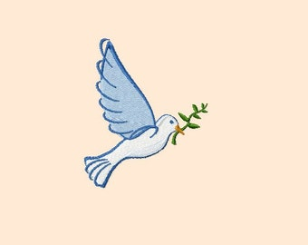 Embroidery pattern - Dove with branch