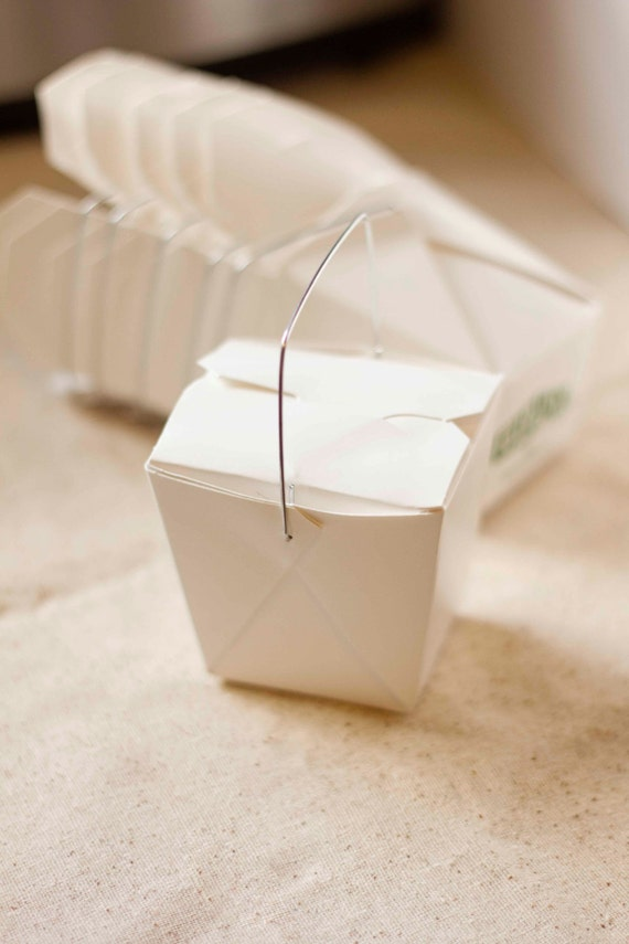 Red Chinese Take Out Favor Boxes : Mini white chinese take out boxes oz additional items