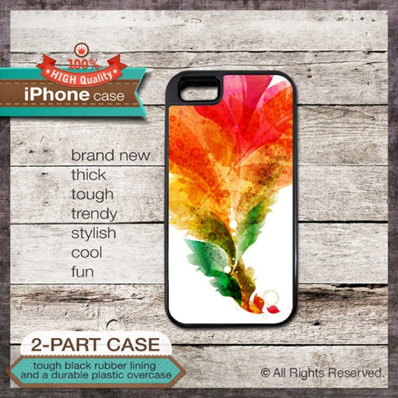 Watercolor handmade art design - iPhone 6, 6+, 5 5S, 5C, 4 4S, Samsung Galaxy S3, S4 - Cover 118