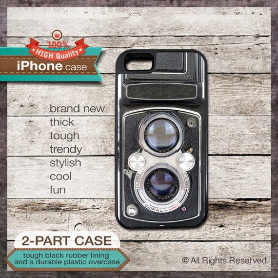 Camera vintage design - iPhone 6, 6+, 5 5S, 5C, 4 4S, Samsung Galaxy S3, S4 - Cover 130
