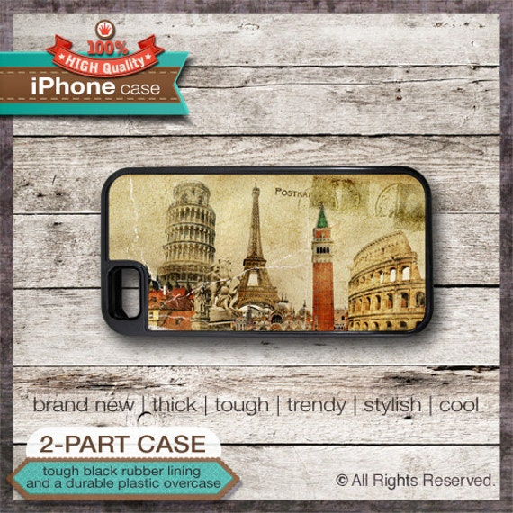 Vintage Travel Postcard - iPhone 6, 6+, 5 5S, 5C, 4 4S, Samsung Galaxy S3, S4