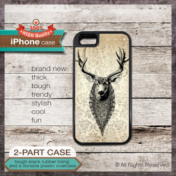 Deer Lace Bib - iPhone 6, 6+, 5 5S, 5C, 4 4S, Samsung Galaxy S3, S4