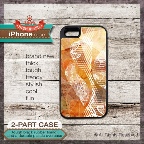 Lace Pattern Design iPhone Case - iPhone 6, 6+, 5 5S, 5C, 4 4S, Samsung Galaxy S3, S4 - Cover 119