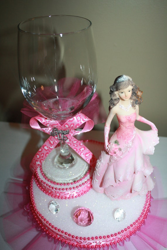 Quinceanera sweet 16 centerpiece by maylin201 on etsy for Flower arrangements for sweet 16