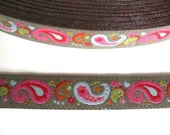 "1 m Woven Ribbon ""Paisley braun"" 12 mm Design luzia pimpinella"