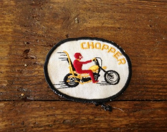 Vintage Motorcycle Chopper Patch