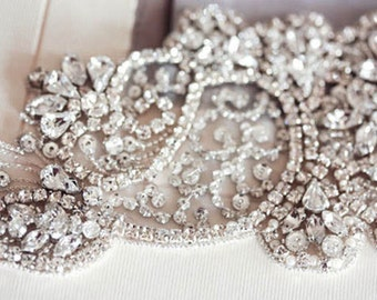 Crystal Bridal Sash - Jill (Made to Order)