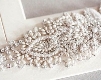 Pearls Bridal Sash, Bridal Belts and Sashes, Wedding belts -  Pearls  (Made to Order)
