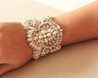 Beaded Wedding Bracelet - PARL  (Made to Order)