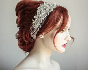 Wedding Veil Hair Piece - Veil Headpiece (Made to Order)