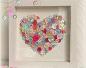 Cath Kidston inspired framed button heart